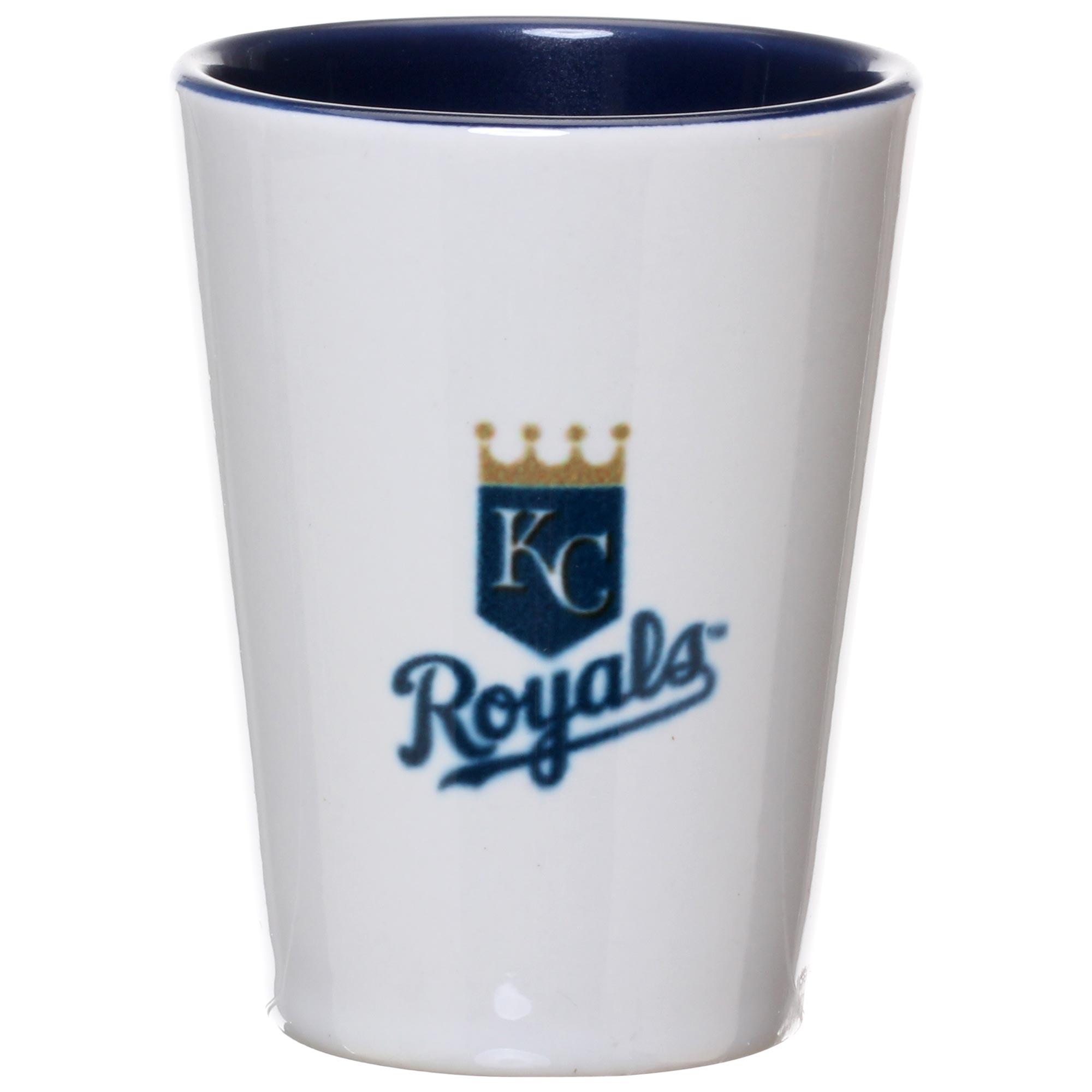 Kansas City Royals 2oz. Inner Color Ceramic Cup - No Size