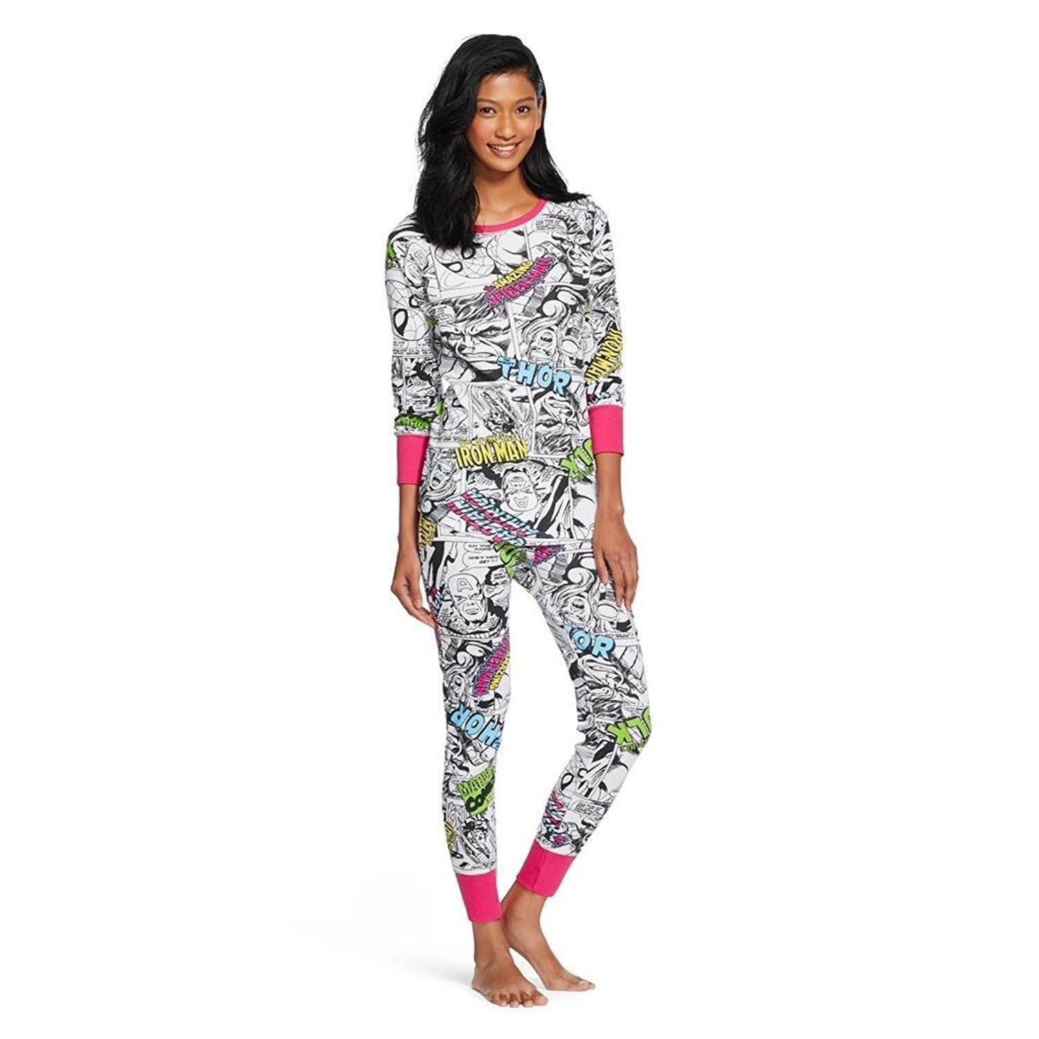 Marvel Avengers Womens Thermal Sleep 2 pc Set Long Underw...