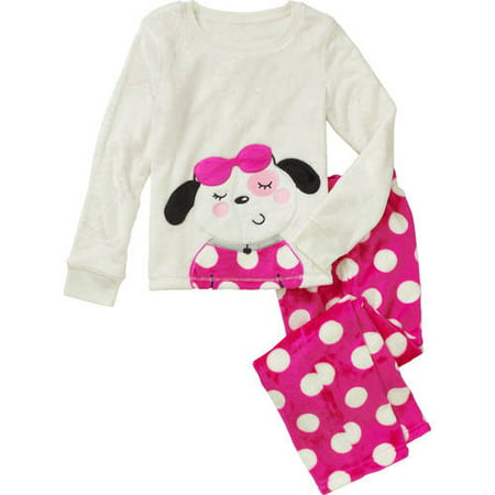 Girls  Super Minky Fleece 2 Piece Cozy Animal Graphic Sleep Set -  Walmart.com 2cf4fdf06