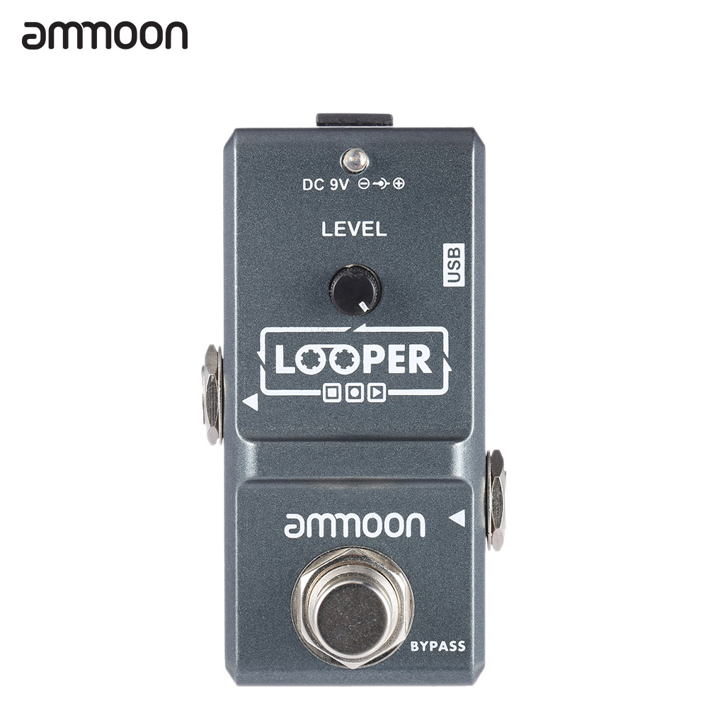 ammoon AP-09 LED Mini Nano Loop Electric Guitar Effect Pedal Looper True Bypass Unlimited Overdubs Recording