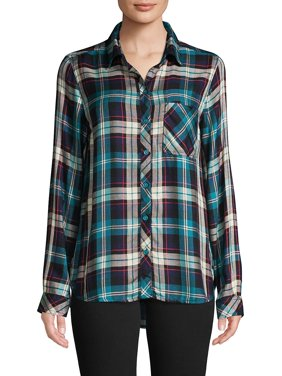 Charley Plaid Button-Front Shirt