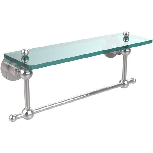 """Astor Place 16"""" Glass Vanity Shelf with Integrated Towel Bar (Build to Order)"""