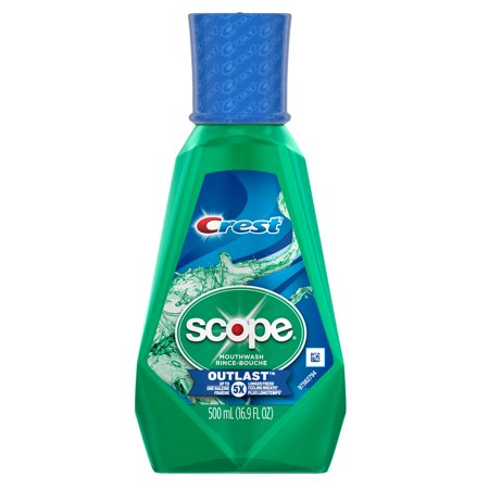 Crest Scope Outlast Mouthwash, Long Lasting Mint, 500 mL