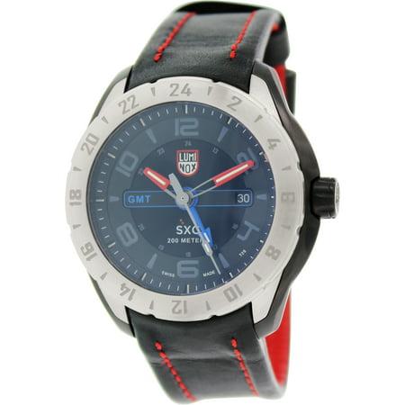Luminox Men's Space 5127 Black Leather Swiss Quartz Dress Watch