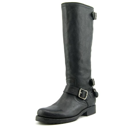 Frye Veronica Back Zip   Round Toe Leather  Western Boot