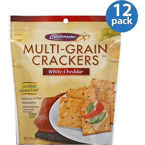 Crunchmaster White Cheddar Multi-Grain Crackers, 4.5 oz, (Pack of 12)