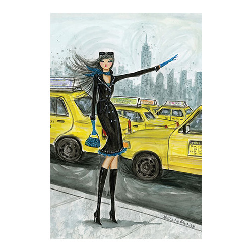 iCanvas NYC Taxi #1 by Bella Pilar Painting Print on Canvas