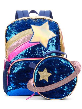 Wonder Nation Sequin Space Backpack With Lunch Bag