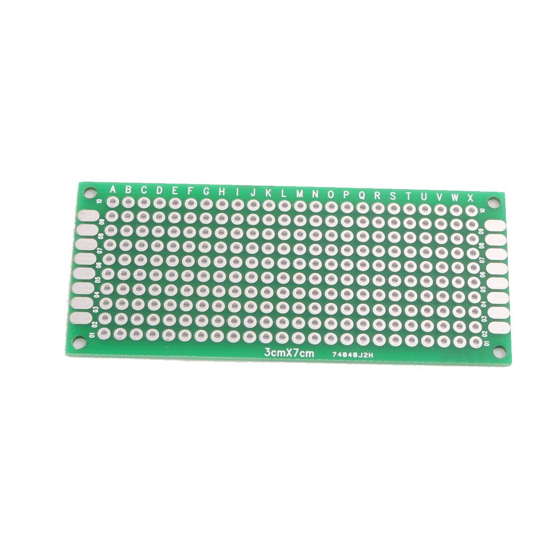 2pcs 5cmx7cm recto vs double platine Universel Prototype Circuit imprimé - image 1 de 2
