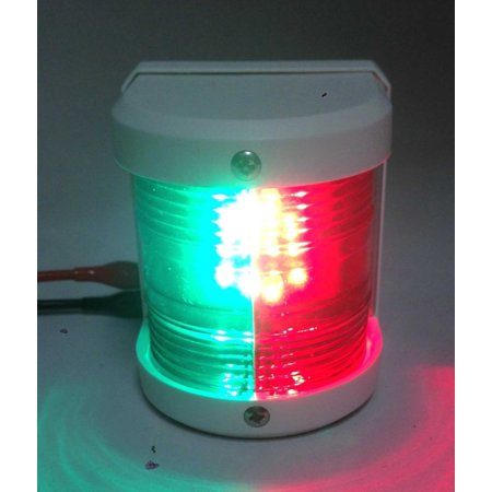 Pactrade Marine Boat Red & Green Bow LED Navigation Light Waterproof 2 Nautical Miles (Miles Navigation)