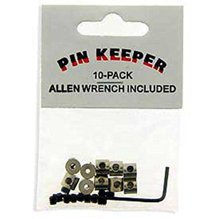 10 Pack Locking Pin Keepers with Allen Wrench