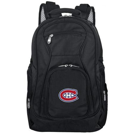 Montreal Canadiens 19u0022 Laptop Travel Backpack - Black