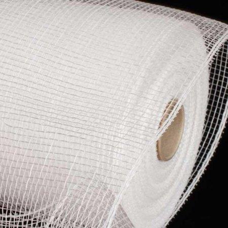 Silver White Deco Mesh Craft Ribbon 6.5 x 120 Yards