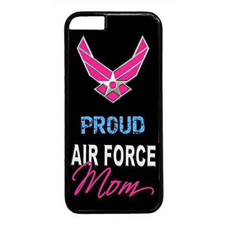 Ganma Us Air Case Force Proud Mom Usa Army Rubber Plastic Black Case Cover Case For Iphone 8 Plus Plus Inch