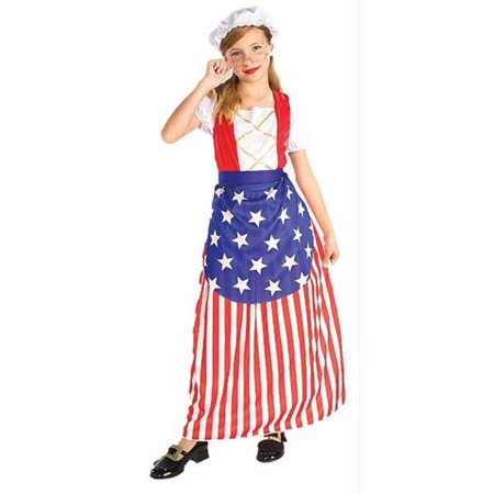 Costumes for all Occasions FM58270LG Betsy Ross Child Lg 12-14 - Betsy Ross Halloween Costume