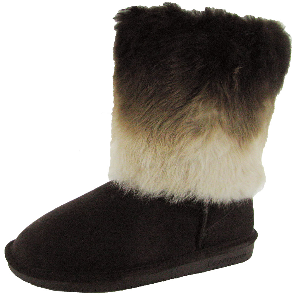 Bearpaw Womens Keely Suede Fur Boot