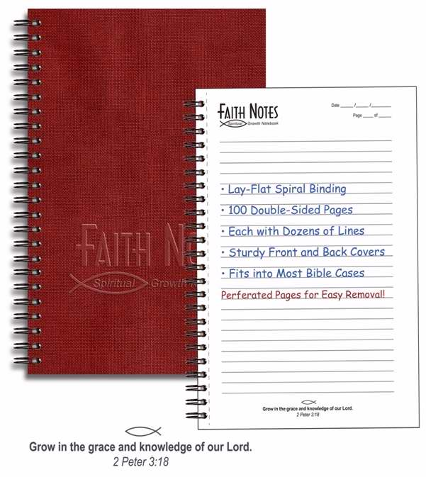 Notebook-Faith Notes Spiritual Growth-Burgundy
