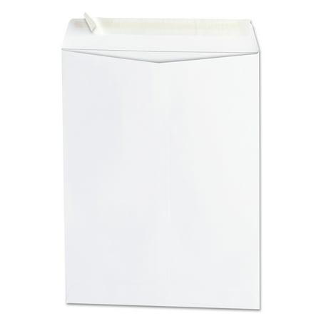White Catalog Envelope - Universal Peel Seal Strip Catalog Envelope, 9 x 12, White, 100/Box -UNV40100