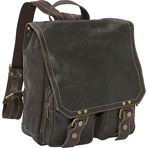 David King & Co. Distressed Leather Laptop Backpack
