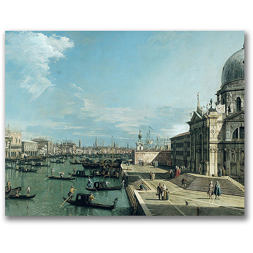 "Trademark Fine Art ""The Entrance To The Grand Canal"" Canvas Wall Art by Canatello"