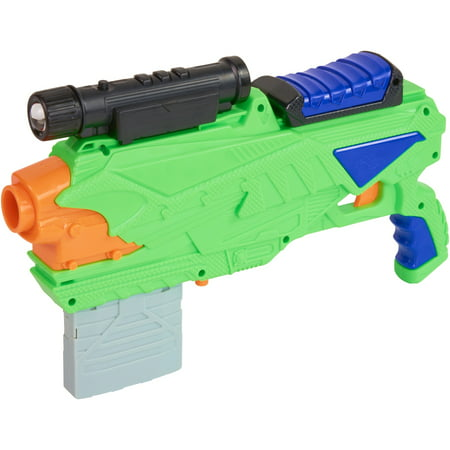 20 Dart Blaster (Adventure force night attack dart blaster, green, designed for ages 8 and up)