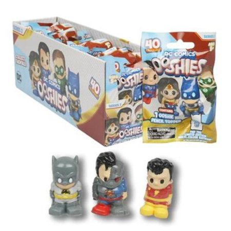 DC Comics 2328726 Justice League Ooshies Pencil Toppers, Assorted Color - Case of 24](Fidget Pencil Toppers)