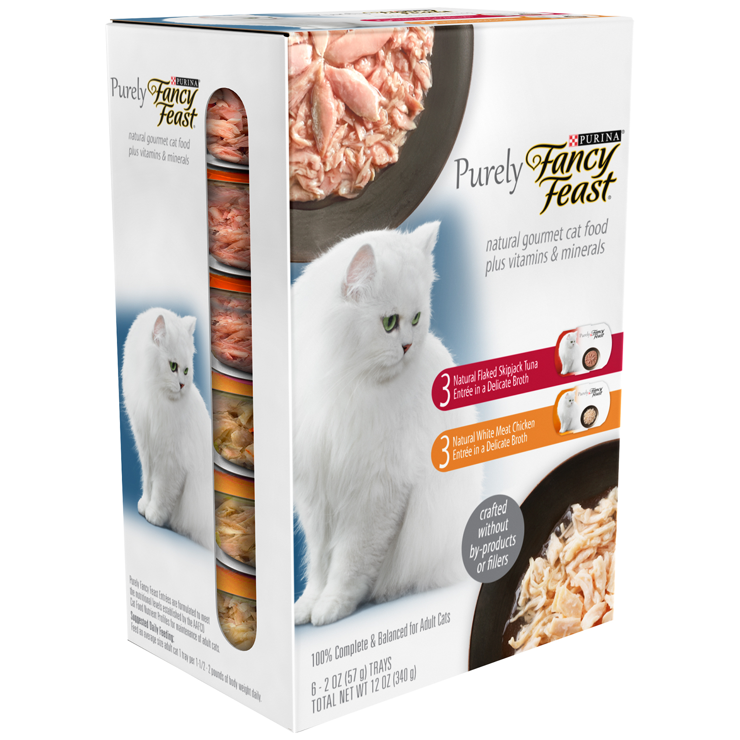 Purina Purely Fancy Feast Natural Collection Cat Food 6-2 oz. Trays