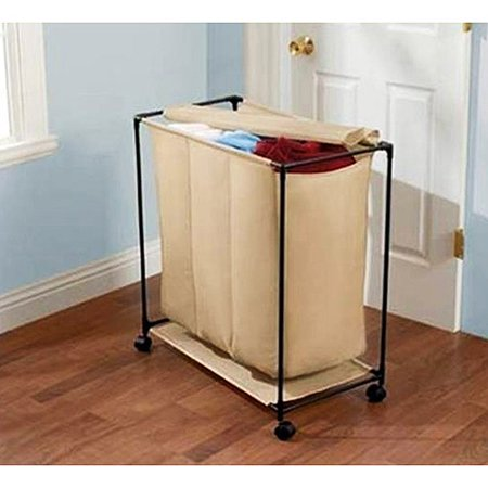 Mainstays Nylon 3 Bin Laundry Sorter