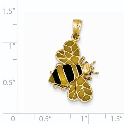 14k Enameled Bumblebee Pendant YC576 (29mm x 17mm) - image 1 de 3