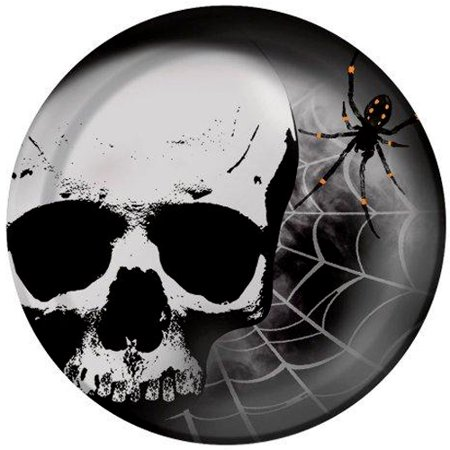 Halloween 'Skull Terror' Large Paper Plates (8ct)](Halloween Mask Making Paper Plates)