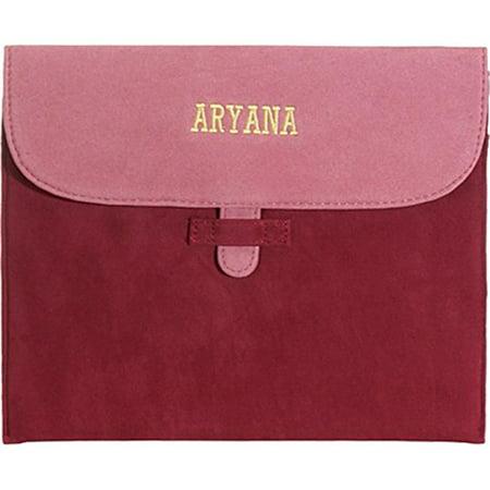 Aryana Ella 2 Red Chic Basic Red Tan Suede Flap Closure Essential Ipad Cover
