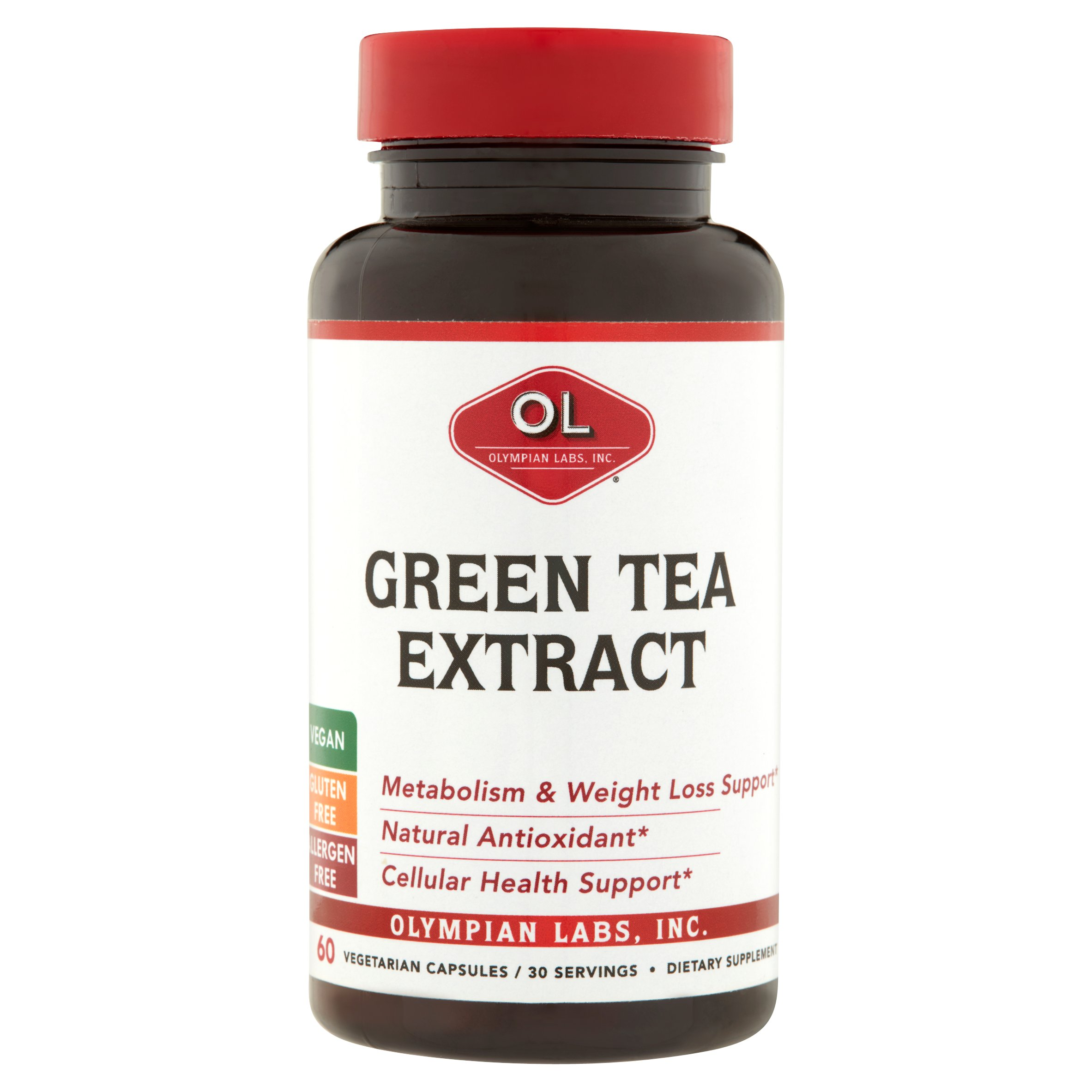 Olympian Labs Green Tea Extract Metabolism Booster Weight Loss Vegetarian Capsules, 60 Ct.