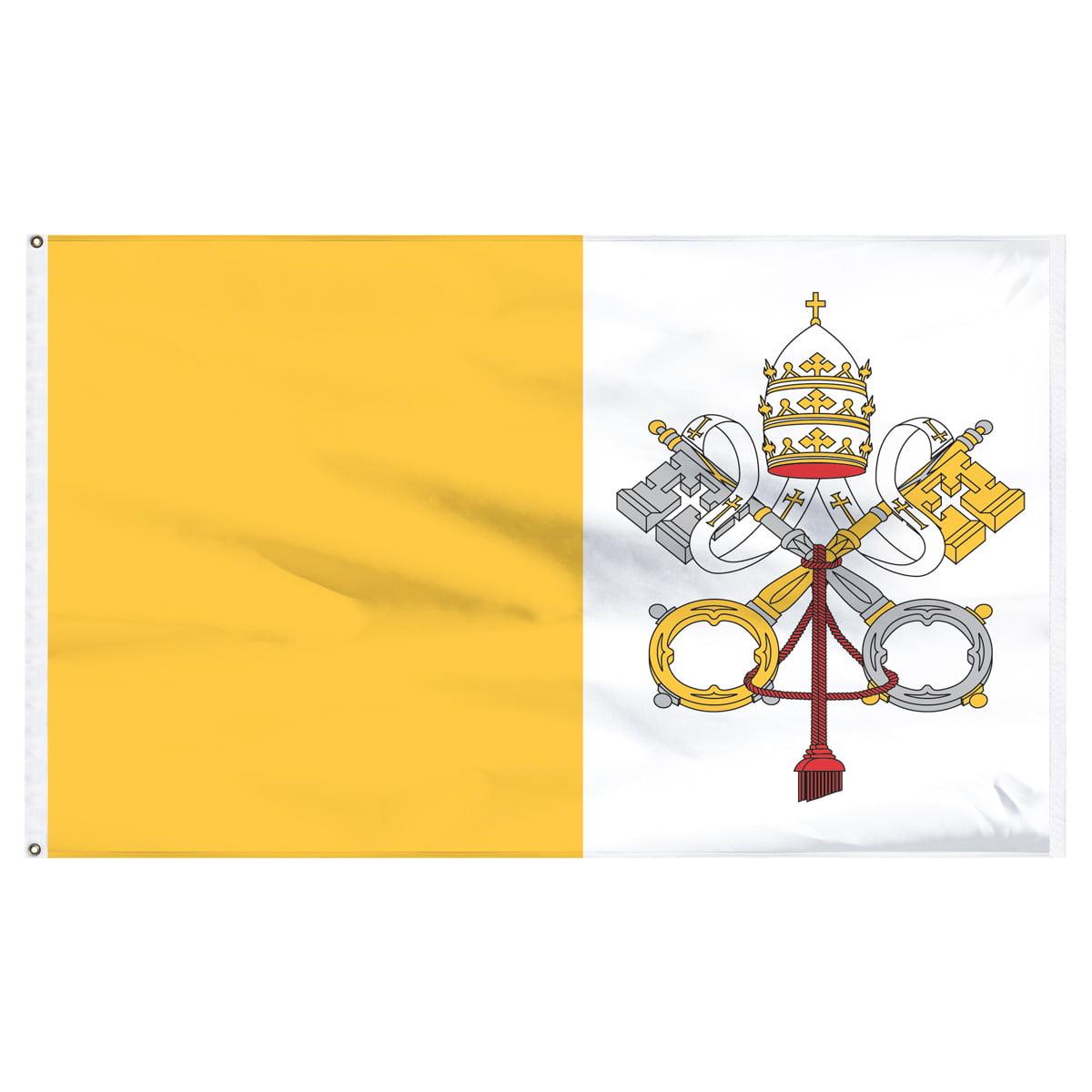 Vatican Flag 5ft x 8ft Nylon
