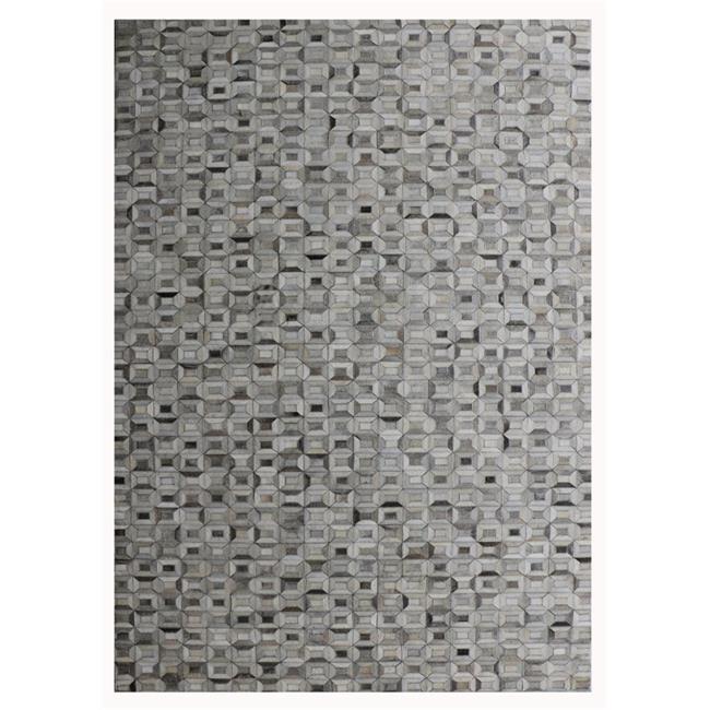 Pasargad PTX-5113 2x3 2 ft. x 3 ft. Cowhide & Hand-Loomed Sari Silk Area Rug