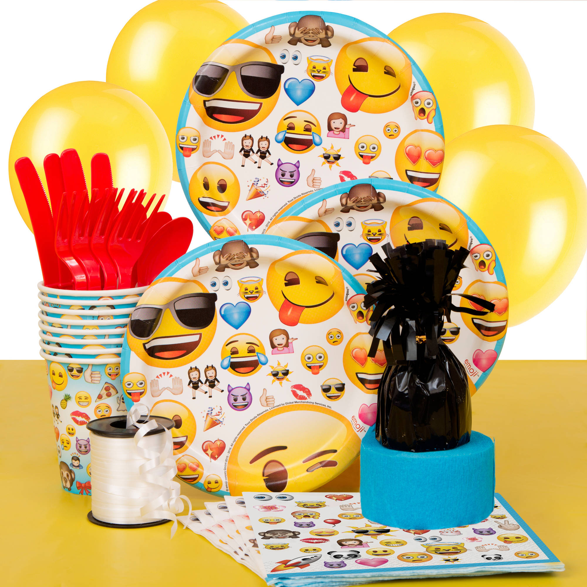 Emoji Party Supplies Kit for 8 - Walmart.com