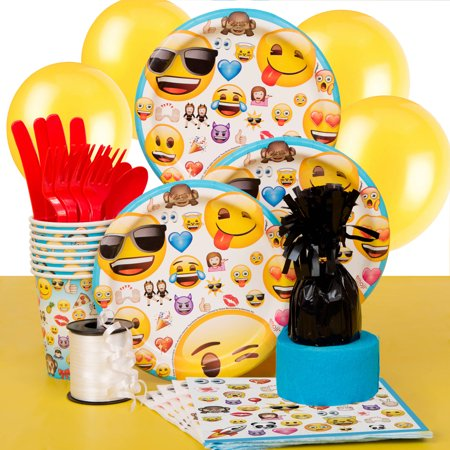 Emoji Party Supplies Kit for 8 - Prehistoric Party Supplies