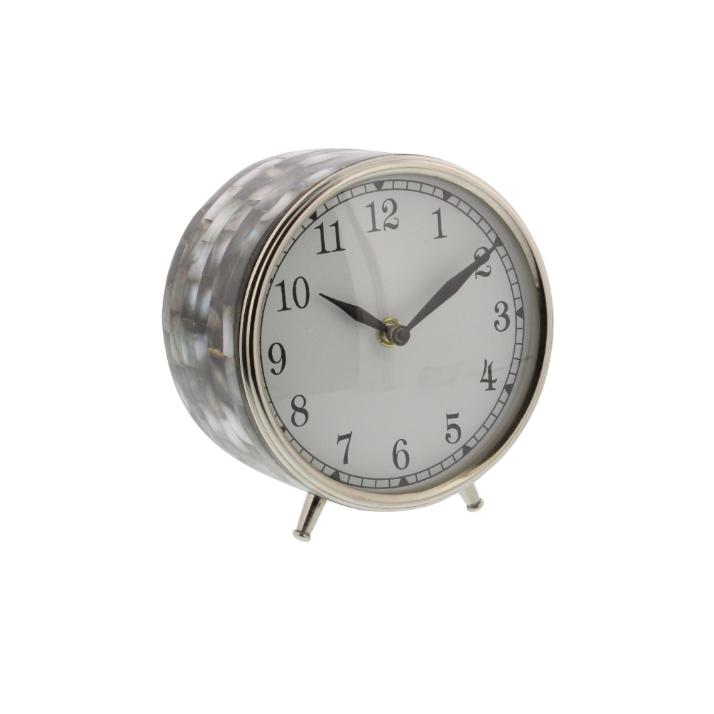 Click here to buy Astounding Stainless Steel Table Clock by Benzara.
