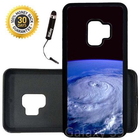 Custom Galaxy S9 Case (Hurricane View From Space) Edge-to-Edge Rubber Black Cover Ultra Slim | Lightweight | Includes Stylus Pen by Innosub