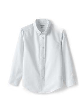 Lands' End Boys 4-20 Adaptive School Uniform Long Sleeve Button-Up Oxford Shirt