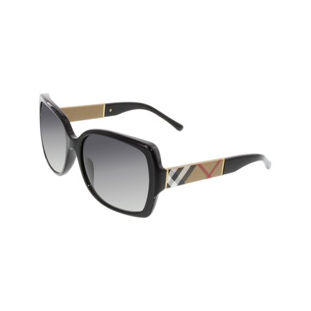 e14d5f6e7a5 Burberry - Burberry Women s Gradient BE4160-34338G-58 Black Square  Sunglasses - Walmart.com