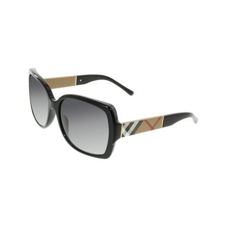 Women's Gradient BE4160-34338G-58 Black Square Sunglasses