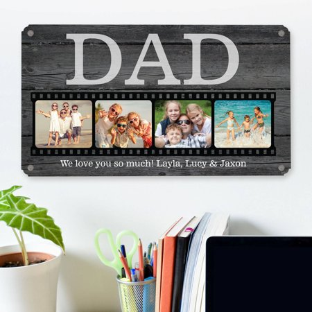 Personalized Photo Memory Reel Metal Sign