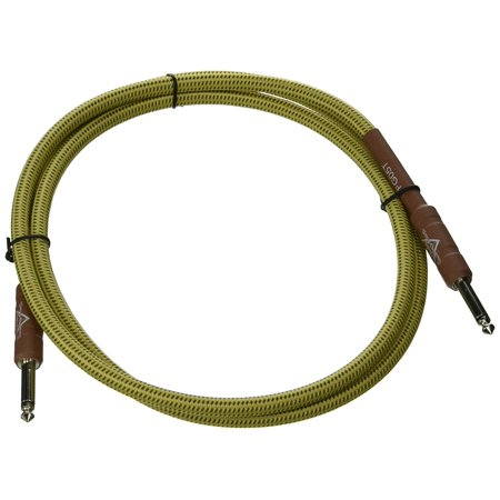 (Custom Shop Performance Series Cable (Straight-Straight Angle) for electric guitar, bass guitar, electric mandolin, pro audio By Fender)
