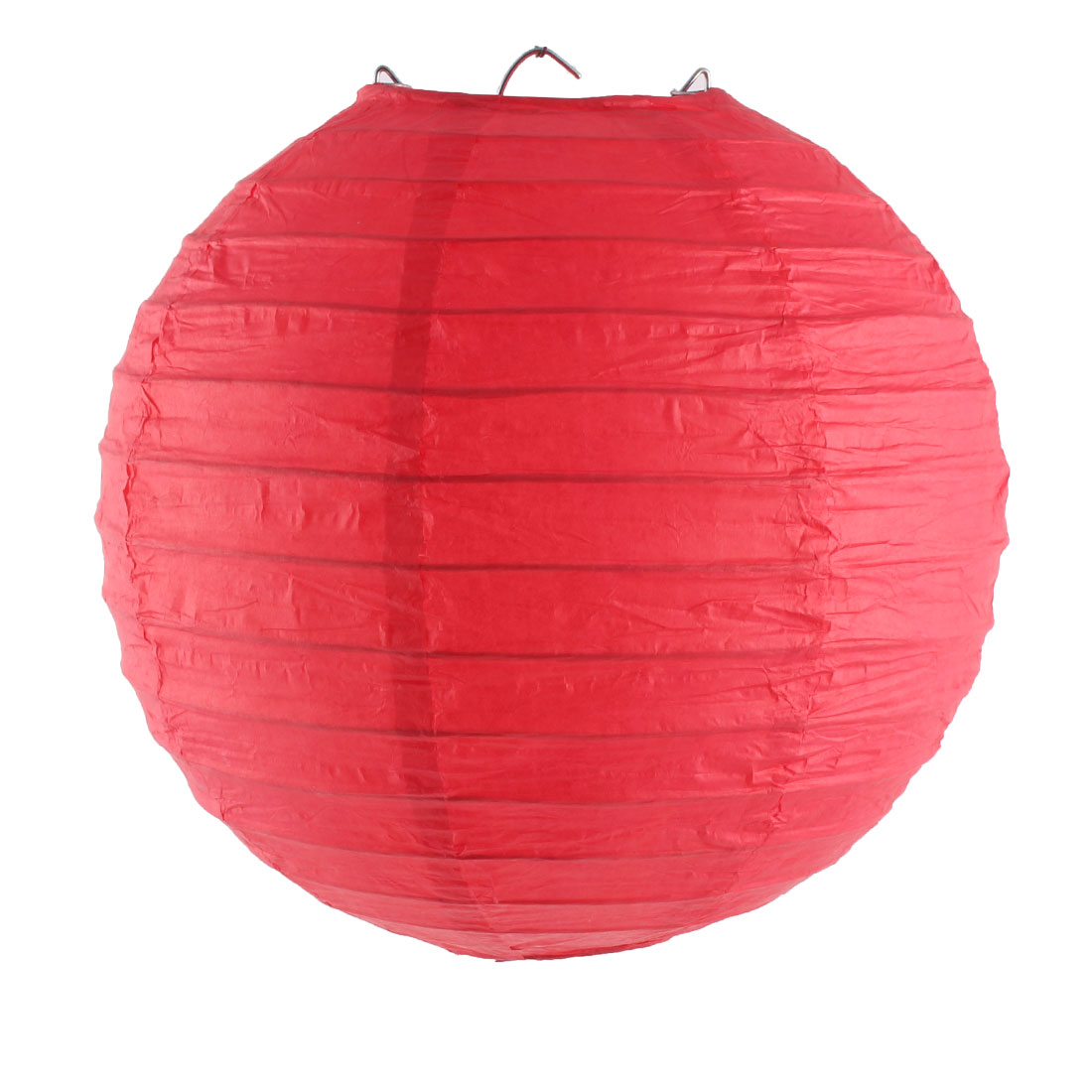 Unique Bargains Christmas Paper Handmade Lantern String Light Decoration Red 8 Inches