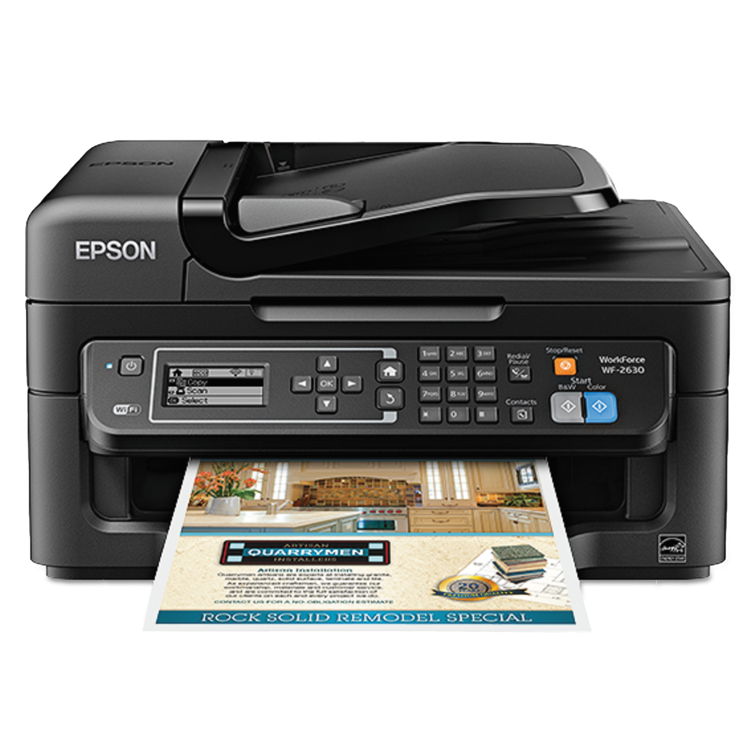 Epson WorkForce WF-2630 AIO Printer, Black by Epson
