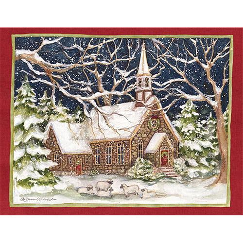 "Lang ""Stone Church"" Boxed Christmas Cards"