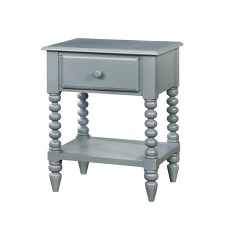 Furniture of America Epperson 1 Drawer Nightstand in Apple Green