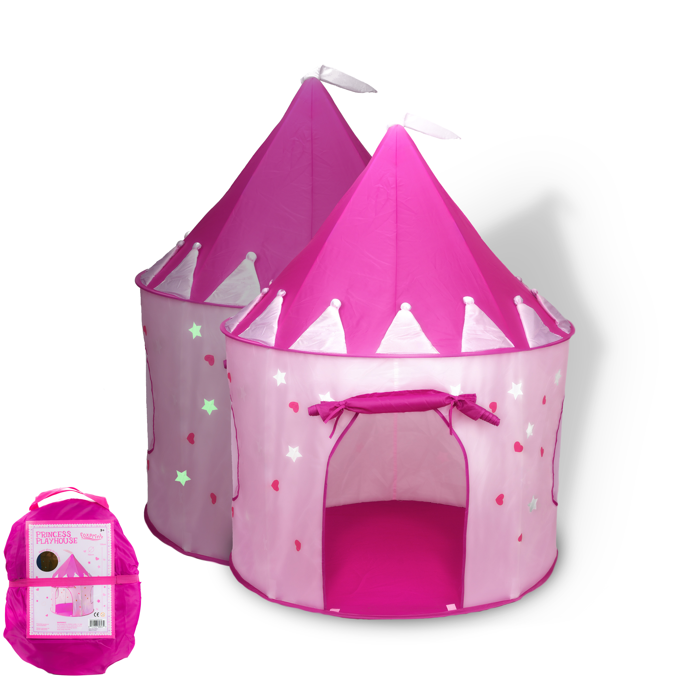 Princess Castle Play Tent with Glow in the Dark Stars convinientlly folds in to a Carrying Case your kids will enjoy this Foldable Pop Up pink play ...  sc 1 st  Walmart & Princess Castle Play Tent with Glow in the Dark Stars ...