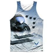 Air Force Pilot (Front Back Print) Mens Sublimation Tank Top Shirt