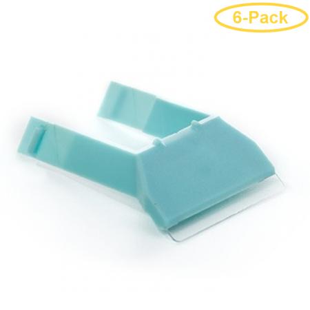 Mag Float Scraper Holder & Blade for Small & Medium Acrylic Aquarium Cleaners 1 count - Pack of 6